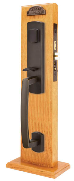 Emtek 3329 Sandcast Bronze Mortise Sonoma Entry Set