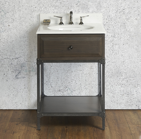 "Fairmont 1401-VH24 Toledo 24"" Open Shelf Vanity - Driftwood Gray"