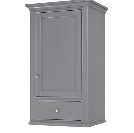 "Fairmont 1504-HT2118 Smithfield 21x18"" Linen Hutch - Medium Gray"