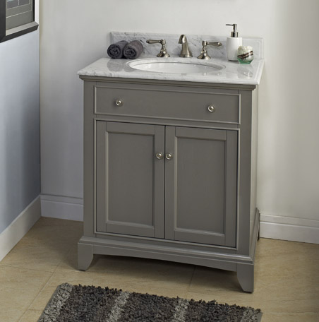 "Fairmont 1504-V30 Smithfield 30"" Vanity - Medium Gray"