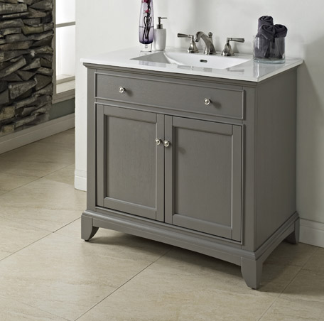 "Fairmont 1504-V36 Smithfield 36"" Vanity - Medium Gray"