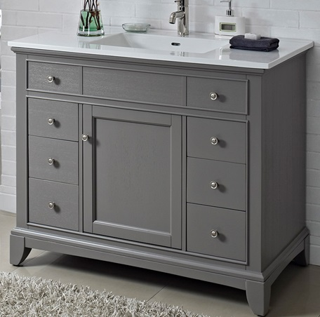 "Fairmont 1504-V42 Smithfield 42"" Vanity - Medium Gray"