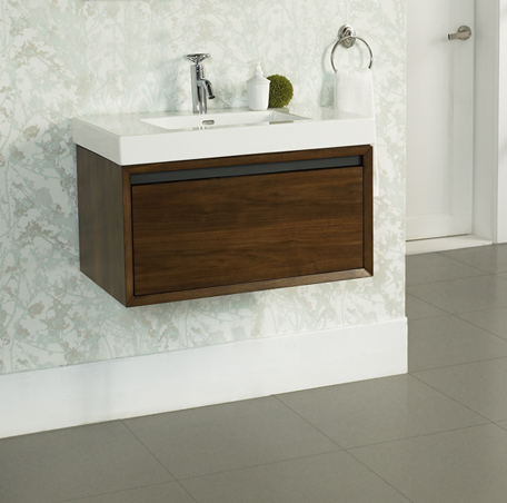 "Fairmont 1505-WV3018 M4 30x18"" Wall Mount Vanity - Natural Walnut"