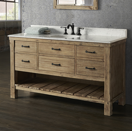 "Fairmont 1507-VH60 Napa 60"" Open Shelf Vanity - Sonoma Sand"