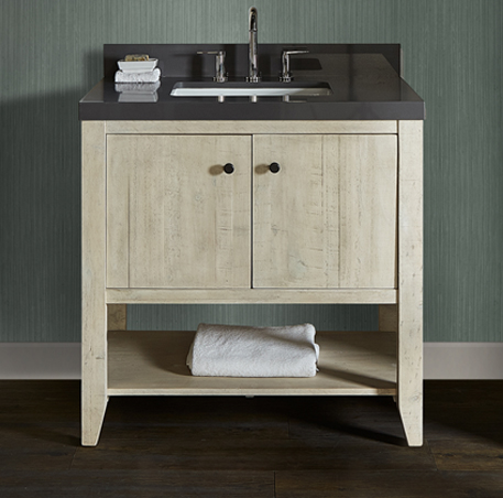 "Fairmont 1515-VH36 River View 36"" Open Shelf Vanity - Toasted Almond"