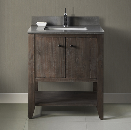 "Fairmont 1516-VH30 River View 30"" Open Shelf Vanity - Coffee Bean"