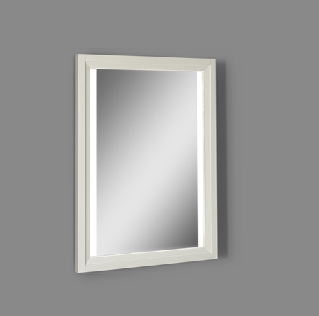 "Fairmont 1517-M25LED Studio One 25"" Wood Frame LED Mirror - Glossy White"
