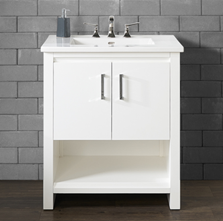 "Fairmont 1517-V30 Studio One 30"" Vanity - Glossy White"
