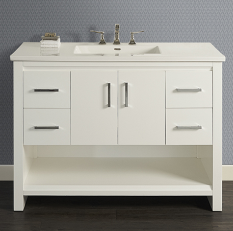 "Fairmont 1517-V48 Studio One 48"" Vanity - Glossy White"