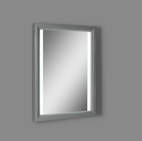 "Fairmont 1518-M25LED Studio One 25"" Wood Frame LED Mirror - Glossy Pewter"