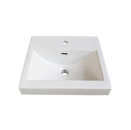 "Fairmont S-11018W1 18x16"" White Ceramic Sink"