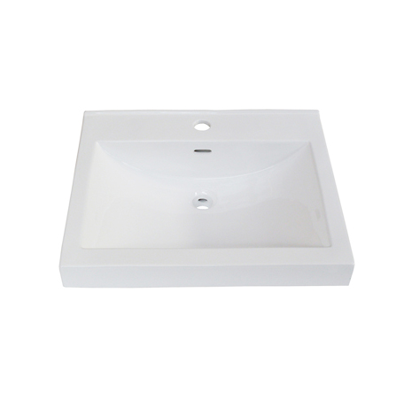 "Fairmont S-11021W1 22x18"" White Ceramic Sink"