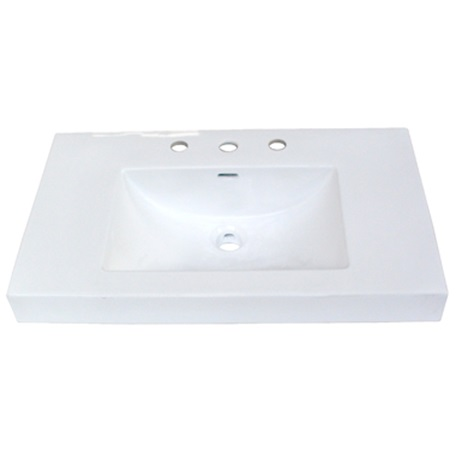 "Fairmont S-11030W8 30x18"" White Ceramic Sink"