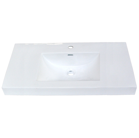 "Fairmont S-11036W1 36x18"" White Ceramic Sink"