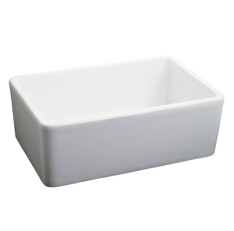 "Fairmont S-F2416WH 24x16"" Fireclay Apron Sink - White"