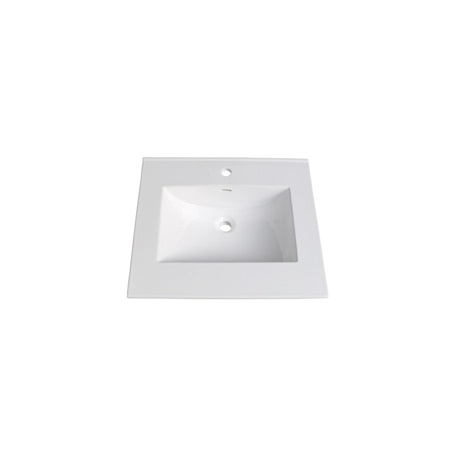"Fairmont TC-2522W1 (11/16"") 25"" White Ceramic Top - Single Hole"