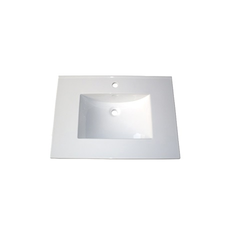 "Fairmont TC-3122W1 (11/16"") 31"" White Ceramic Top - Single Hole"