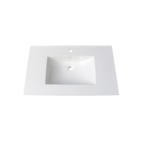 "Fairmont TC-3722W1 (11/16"") 37"" White Ceramic Top - Single Hole"