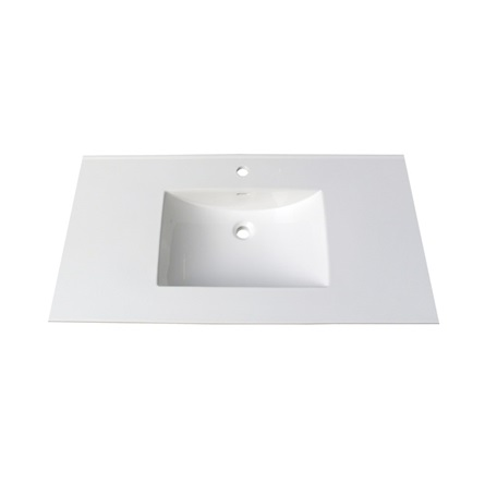 "Fairmont TC-4322W1 (11/16"") 43"" White Ceramic Top - Single Hole"
