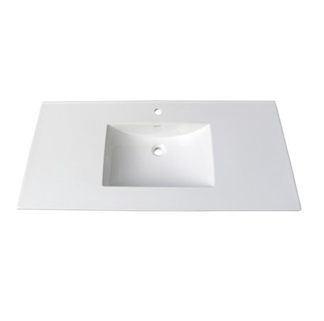 "Fairmont TC-4922W1 (11/16"") 49"" White Ceramic Top - Single Hole"