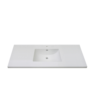 "Fairmont TC3-4922W1 3cm (1-1/4"") 49"" White Ceramic Top - Single Hole"