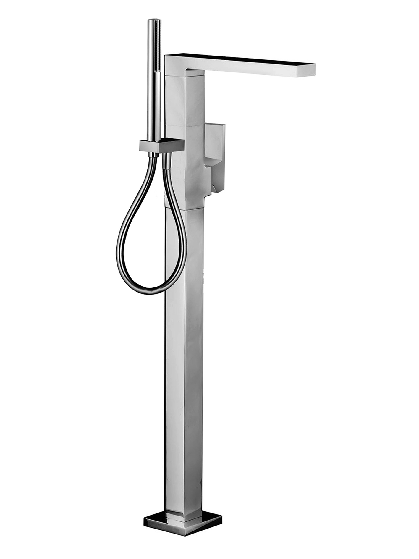Fantini 3380SBU+3380AU Plano Floor-Mount Single-Control Tub High flow Filler