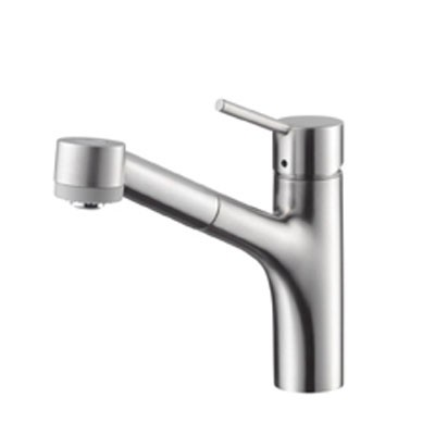 Hansgrohe 06462860 Talis S Single Hole Pull Out Kitchen Faucet Steel Optik