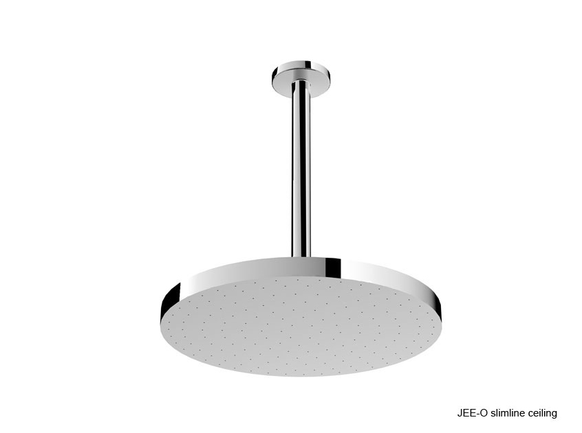 Jee-O 400-1000 Slimline Shower Head For Use with Ceiling Or Wall - Brushed Stainless Steel