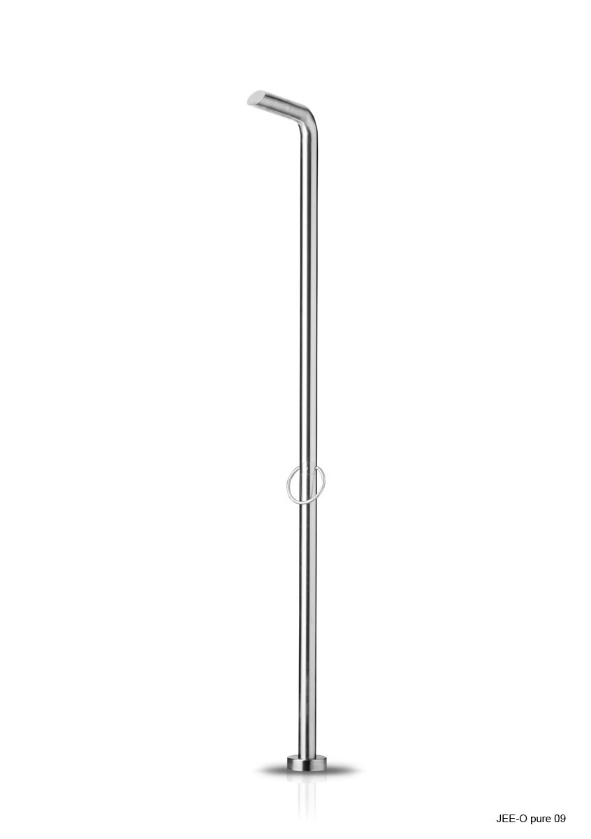Jee-O 400-2400 Pure 09 Freestanding Shower with Hot/Cold Mixer - Brushed Stainless Steel