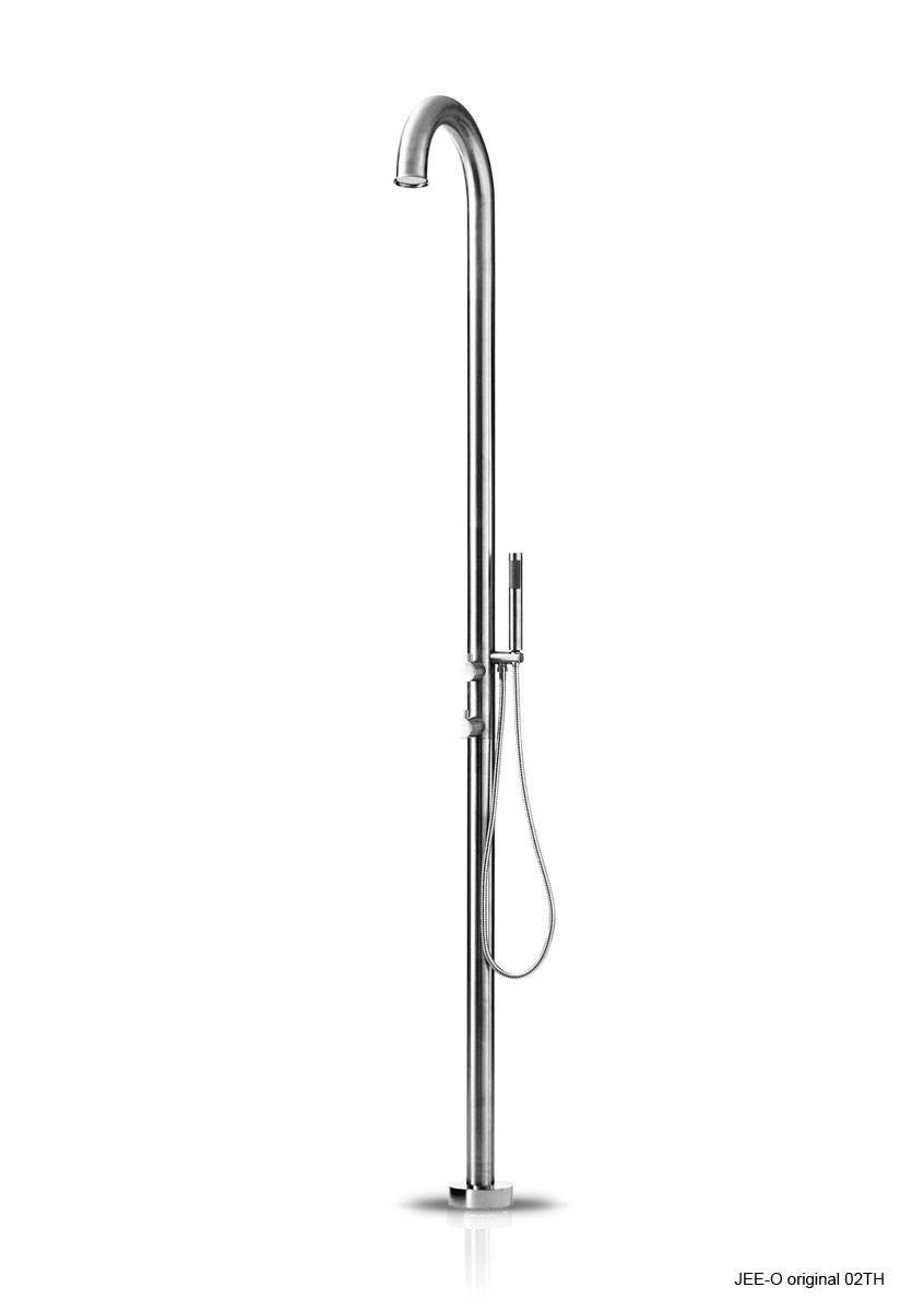 Jee-O 400-6200 Original 02TH Freestanding Shower with Thermostatic Mixer and Hand Shower - Brushed Stainless Steel