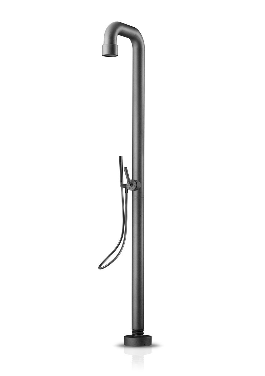 Jee-O 400-6400-HB Soho 02 Freestanding Shower with Pressure Balance Valve and Hand Shower - Hammercoated Black