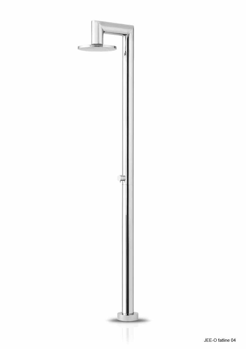 Jee-O 400-6470 Fatline 04 Freestanding Shower with Pressure Balance Valve - Brushed Stainless Steel