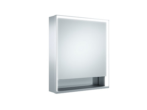 Keuco 14301171151 Mirror Cabinet - Silver Anodized/Right Hand