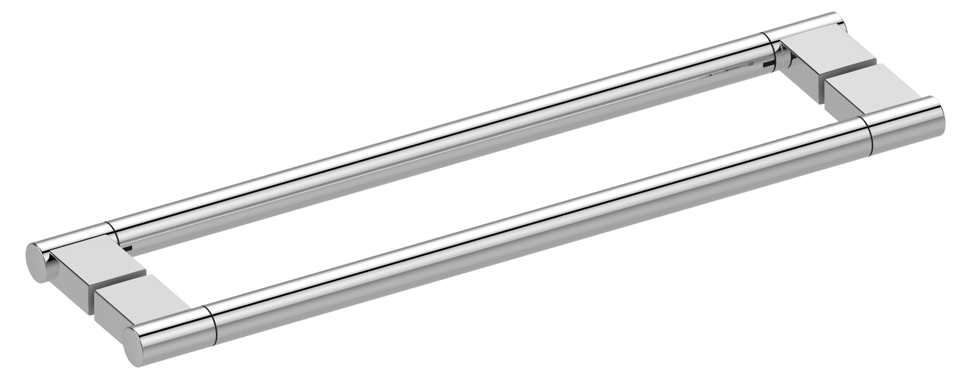 Keuco 14908010503 Shower Door Handle (Double) - Chrome Plated