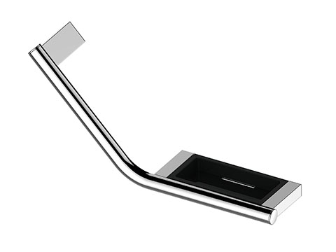 Keuco 14909012037 Grab Bar 135 - Chrome Plated/Dark Grey (Ral 7021)