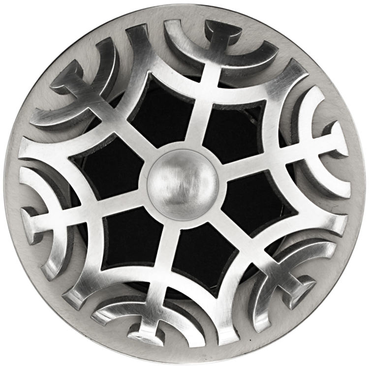 Linkasink D011 SS-SCR01-N Maze Grid Strainer - Satin Smooth FinishSphere Screw, No Overflow