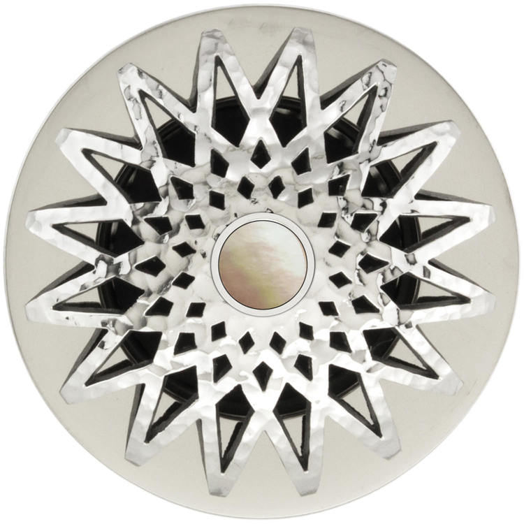 Linkasink D015 PH-SCR02-O Star Grid Strainer - Mother of Pearl Screw, With Overflow