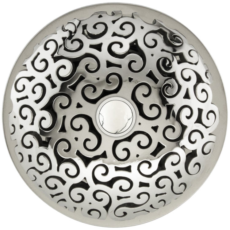 Linkasink D016 PS-SCR02-N Swirl Grid Strainer - Mother of Pearl Screw, No Overflow