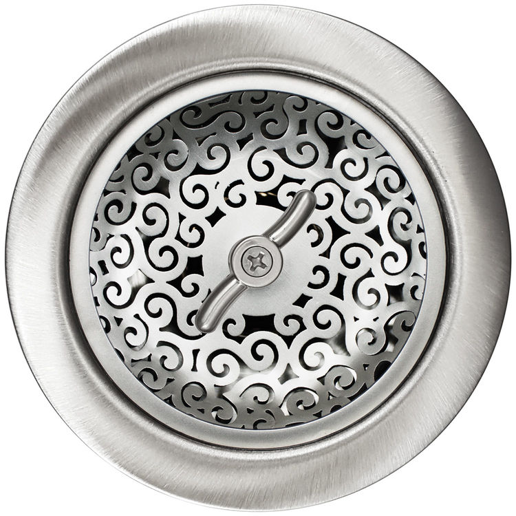 Linkasink D056 SS Swirl Basket Strainer - Satin Smooth Finish