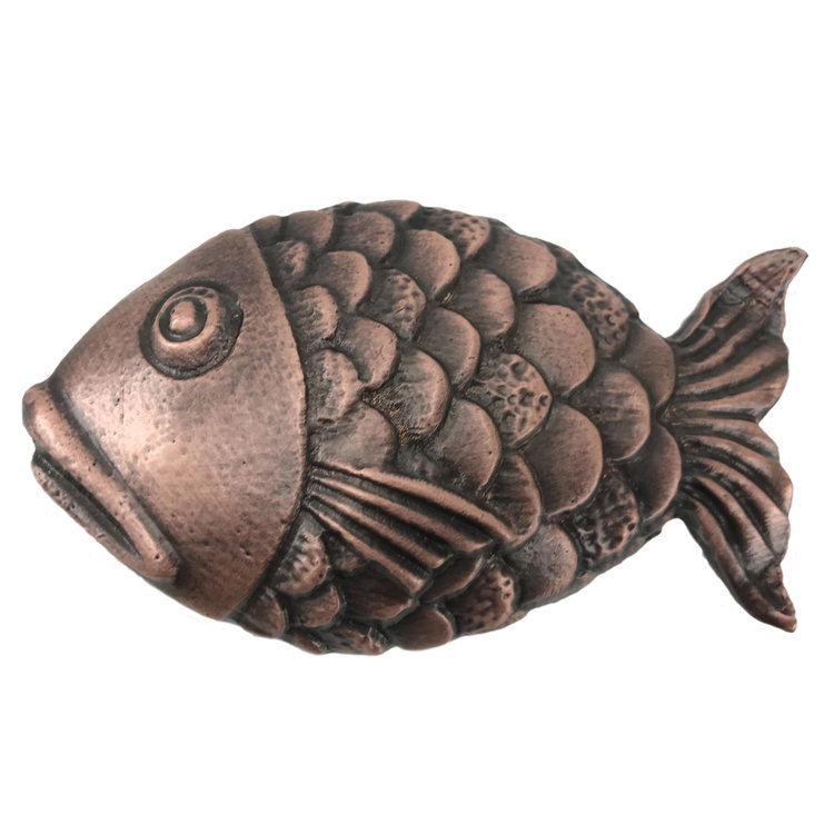 Linkasink D103 WC Metal Large Fish - Weathered Copper