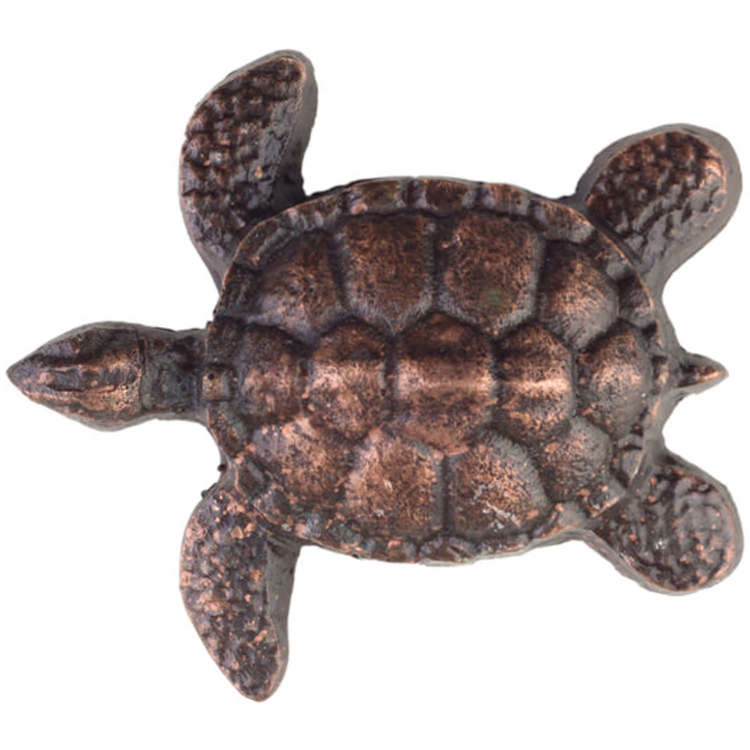 Linkasink D111 WC Metal Small Turtle - Weathered Copper