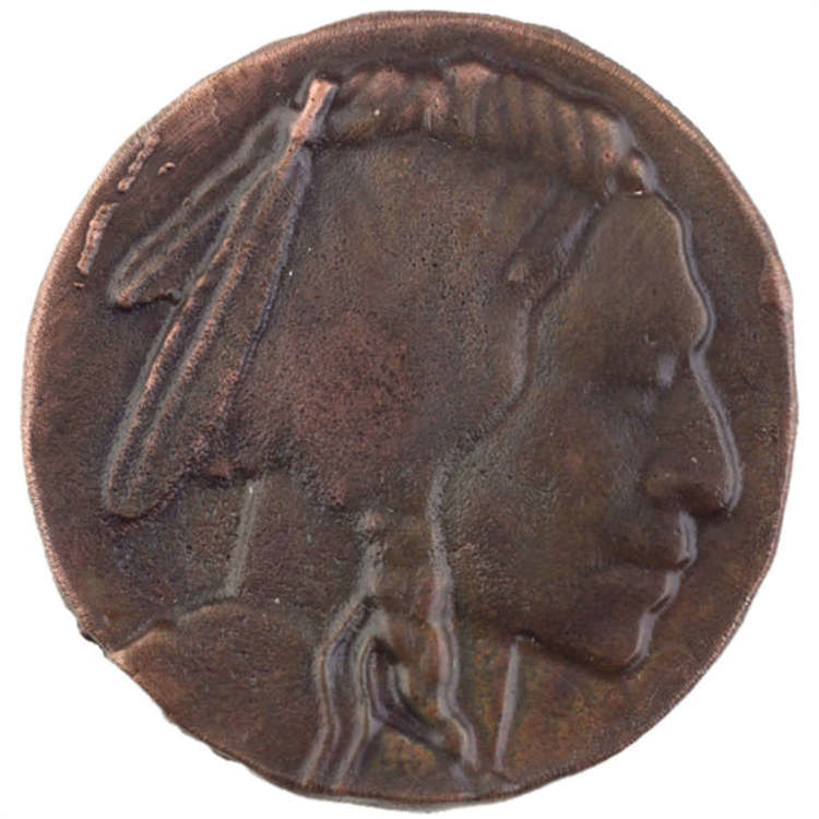 Linkasink D113 WC Metal Indian Head - Weathered Copper