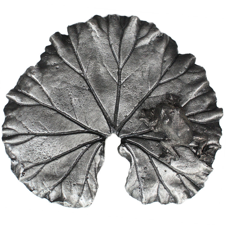 Linkasink D116F PW Metal Large Leaf - Pewter - With Frog