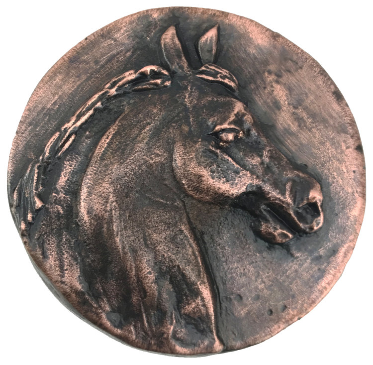 Linkasink D124 WC Horse Head - Weathered Copper