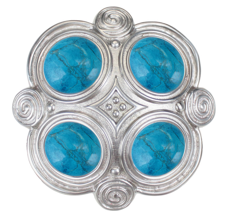 Linkasink D501 PW Quad with Turquoise Drain - Pewter
