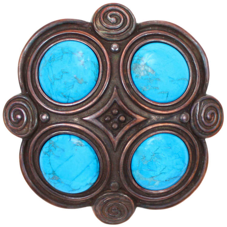 Linkasink D501 WC Quad with Turquoise Drain - Weathered Copper