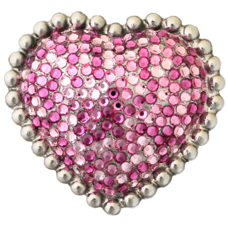 Linkasink D603 SN Heart with Swarovski Crystals