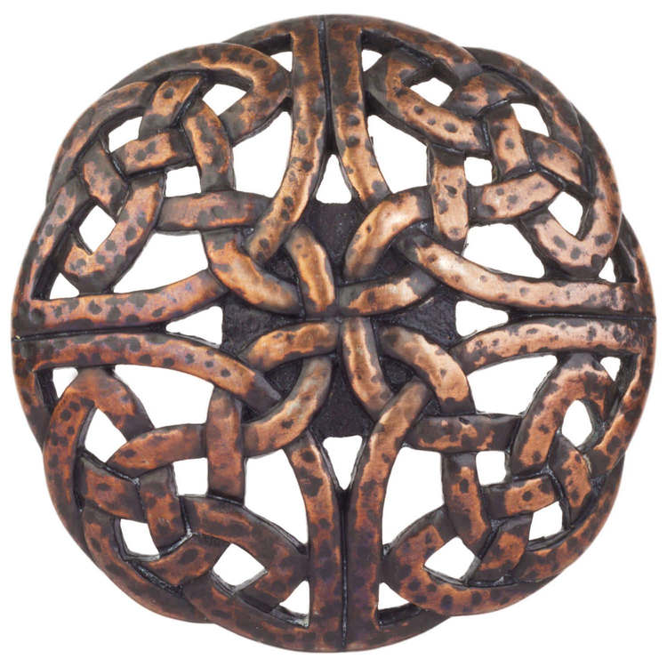 Linkasink D720 WC Celtic Knot - Weathered Copper