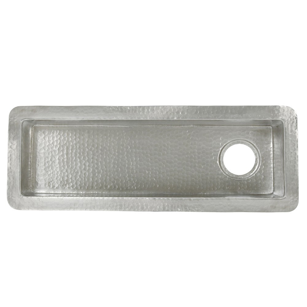Native Trails CPS510 Rio Chico bar/prep trough sink - Brushed Nickel