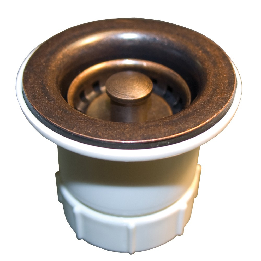 "Native Trails DR220-WC Jr. Strainer, 2"" Sink Drain - Weathered Copper"
